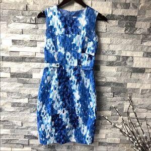 New Calvin Klein blue sleeveless dress size 4